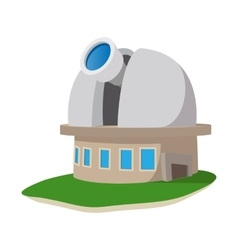 Observatory station cartoon icon vector image vector image