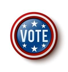 Vote button vector image