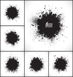 6 abstract grunge backgrounds vector image