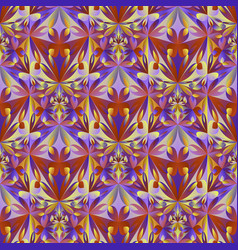 Abstract polygonal geometrical floral mosaic vector