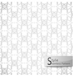 Abstract seamless pattern lotus lattice ribbon vector