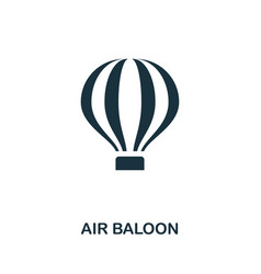 Air ballon icon in flat style icon design vector