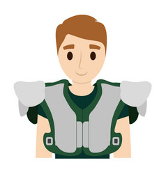 american football player man vector image
