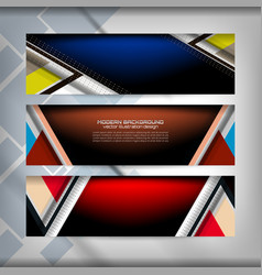 banner web design vector image