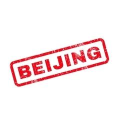 Beijing Text Rubber Stamp vector