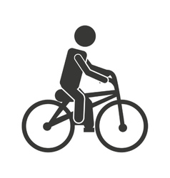 Bicycle man biker icon vector