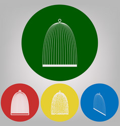 bird cage sign 4 white styles of icon at vector image
