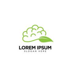 Brain leaf logo icon download vector
