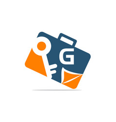 Briefcase key document initial g vector