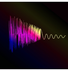 Bright sound wave on a dark blue background EPS vector