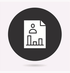 business report - icon vector image