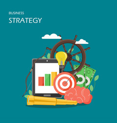 business strategy flat style design vector image