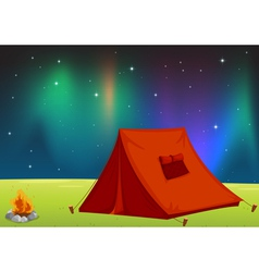 Camping Field vector image