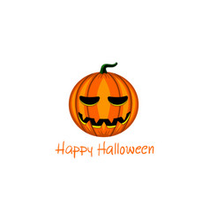card with halloween pumpkin vector image