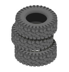 Cover tire icon isometric style vector