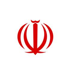 Emblem iran vector