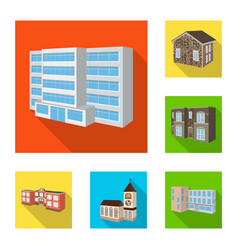 facade and housing symbol vector image