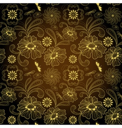 Floral seamless vintage pattern vector