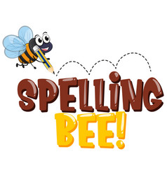 Font design for word spelling bee with bee writing vector