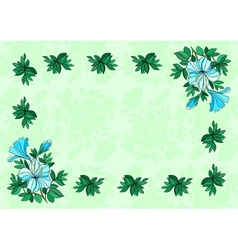 Frame from flowers with background vector image