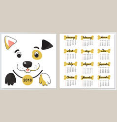funny dog in a collar with a medal calendar from vector image