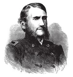 General judson kilpatrick vintage vector
