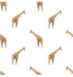 giraffe triangle seamless pattern backgrounds vector image