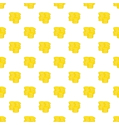 Gold coins pattern cartoon style vector