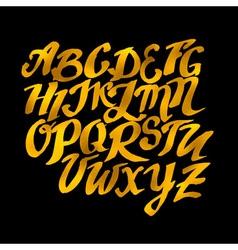 Gold hand drawn alphabet pattern eps10 dood vector