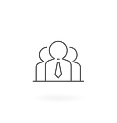 group people icon vector image
