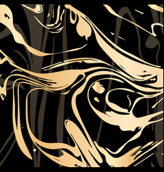 Hand drawn ink marbling vector