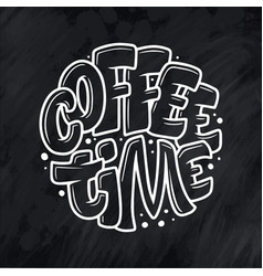 hand lettering quote with sketch for coffee shop vector image