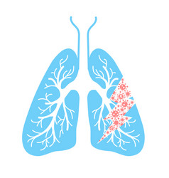 icon of lung hit vector image