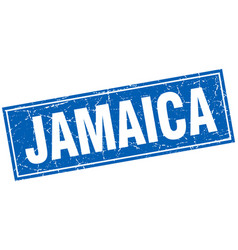 Jamaica blue square grunge vintage isolated stamp vector