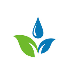 leaf water nature concept logo icon vector image