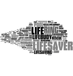 Lifesaver word cloud concept vector