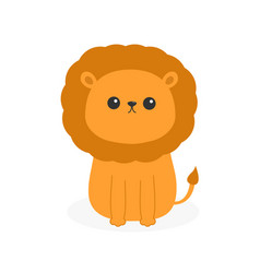 Lion icon cute cartoon funny character baby vector