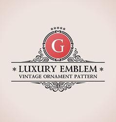 Luxury logo calligraphic pattern elegant decor vector