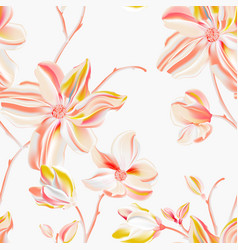 magnolia light peach background seamless flower vector image