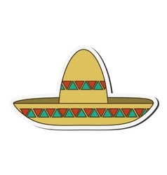 Mexican hat style design vector