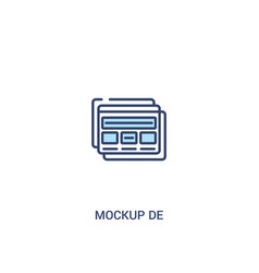 Mockup de concept 2 colored icon simple line vector