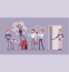 Office fun in the workplace vector