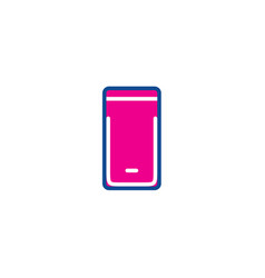 phone color thin line icon for web vector image