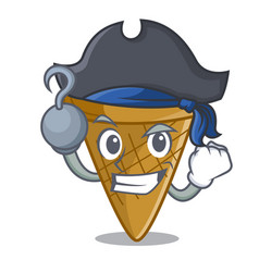 pirate wafer cone character cartoon vector image