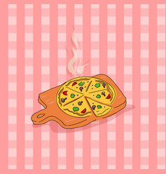 Pizza doodle style for your vector