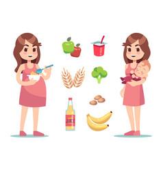 Pregnant woman diet pregnancy vector