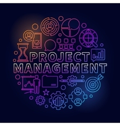 Project management bright vector