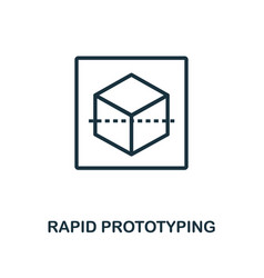 Rapid prototyping icon outline style thin line vector