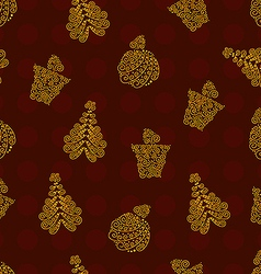 Red Chirstmas pattern vector