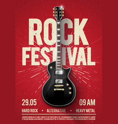 Rock festival concert party flyer poster template vector